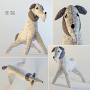 狗毛绒玩具 3d model