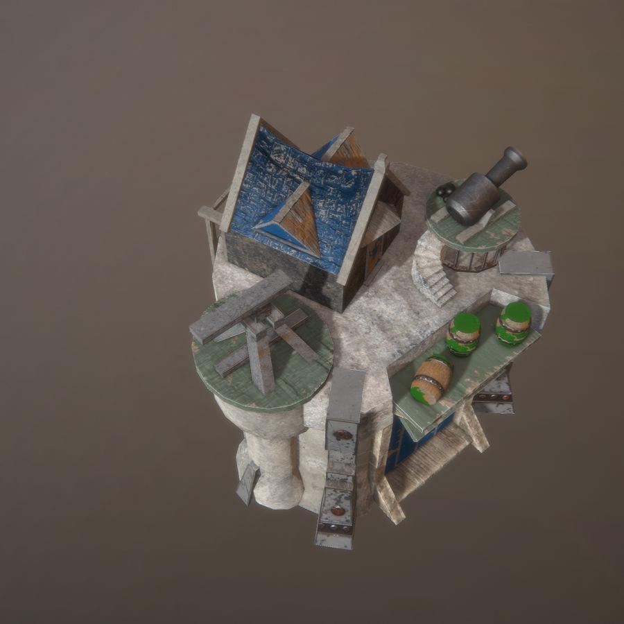 Tour de défense 3D gratuite - Prêt pour le jeu royalty-free 3d model - Preview no. 5
