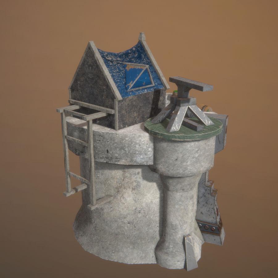 Tour de défense 3D gratuite - Prêt pour le jeu royalty-free 3d model - Preview no. 2