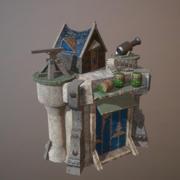 Torre de defesa 3D gratuita - Jogo pronto 3d model