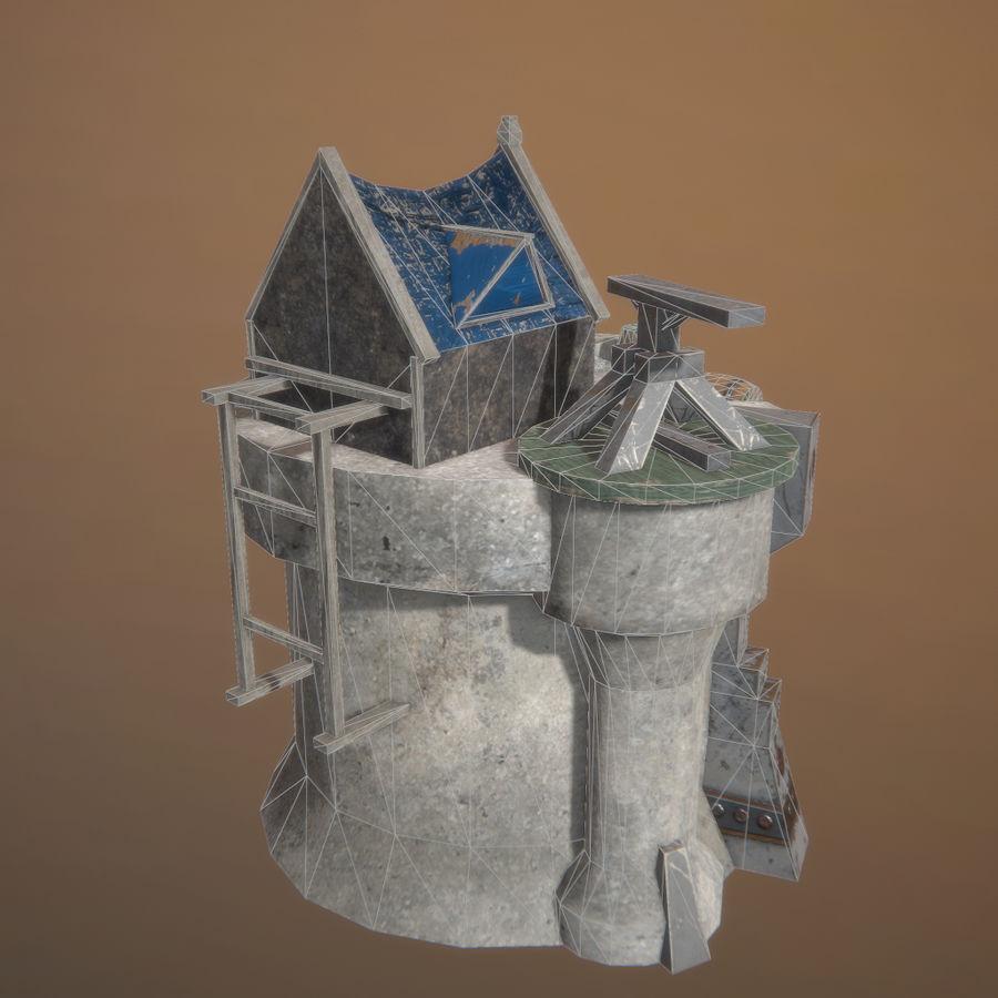Tour de défense 3D gratuite - Prêt pour le jeu royalty-free 3d model - Preview no. 3
