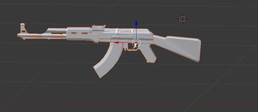 AK47 royalty-free 3d model - Preview no. 1