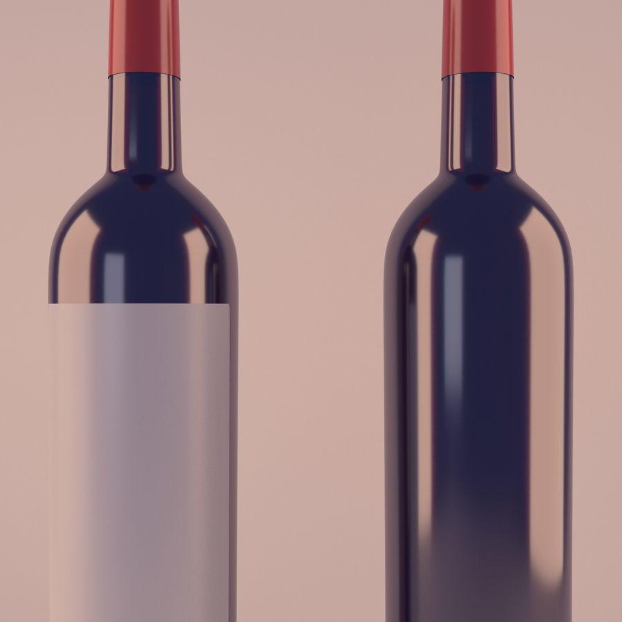 Butelka wina royalty-free 3d model - Preview no. 2