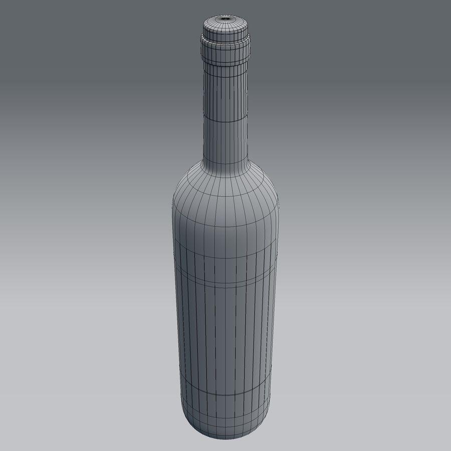 Butelka wina royalty-free 3d model - Preview no. 7