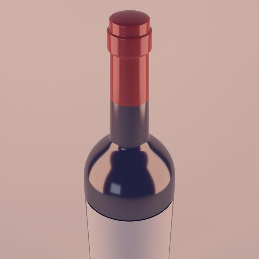 Butelka wina royalty-free 3d model - Preview no. 3