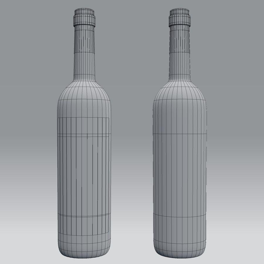 Butelka wina royalty-free 3d model - Preview no. 6
