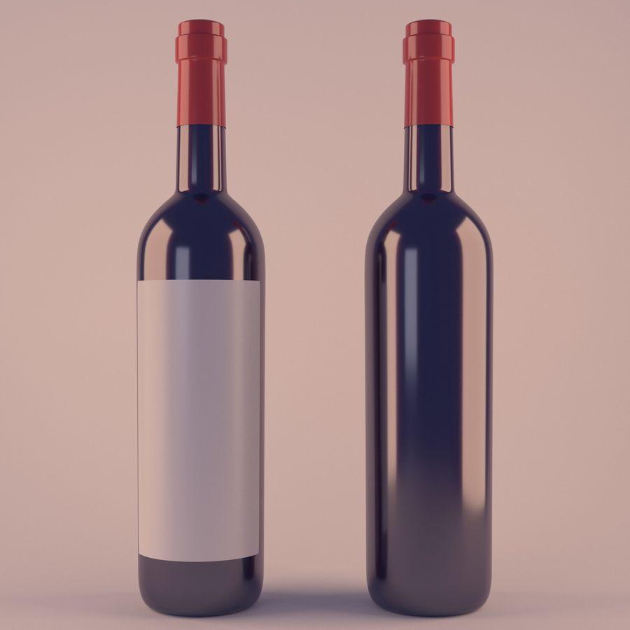 Butelka wina royalty-free 3d model - Preview no. 1