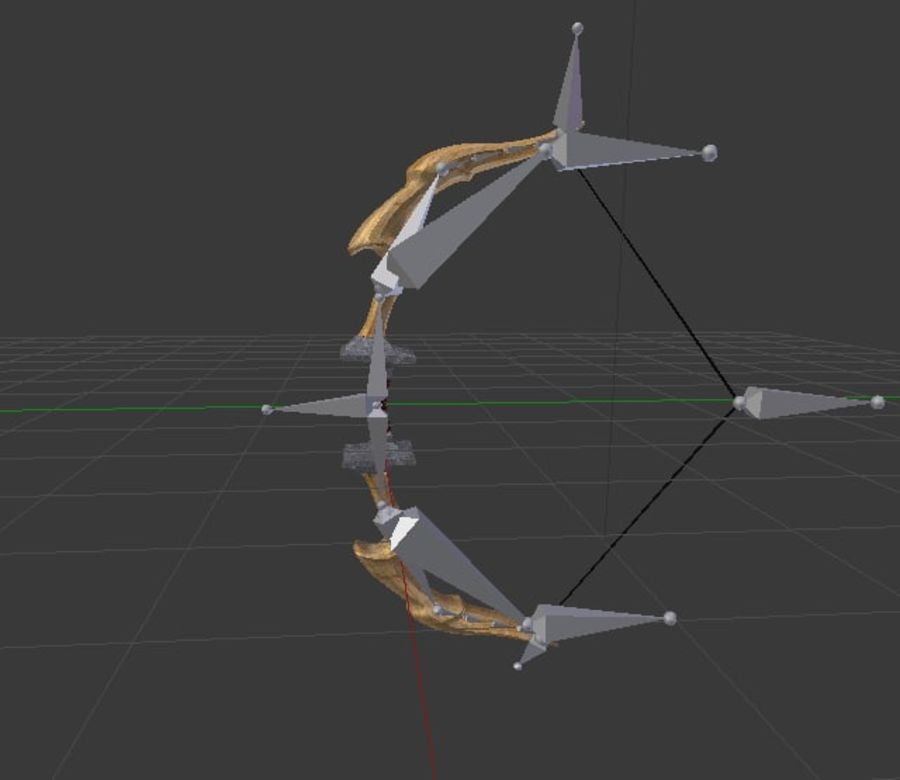 Fantsy Bow Rigged Animated royalty-free 3d model - Preview no. 3