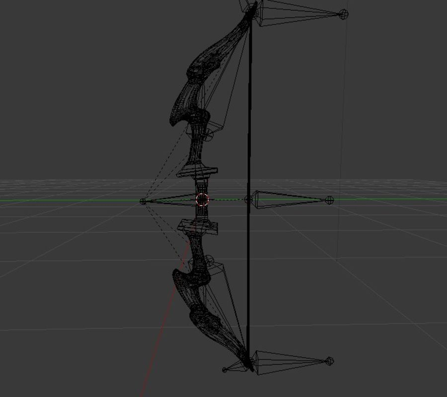 Fantsy Bow Rigged Animated royalty-free 3d model - Preview no. 4