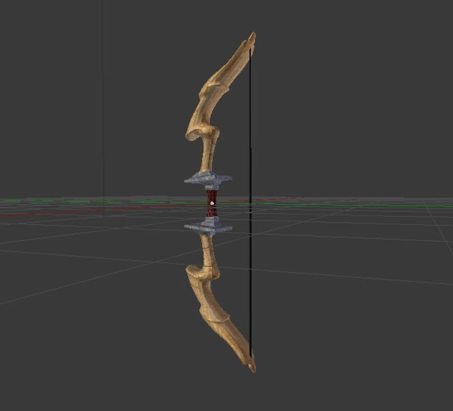 Fantsy Bow Rigged Animated royalty-free 3d model - Preview no. 2