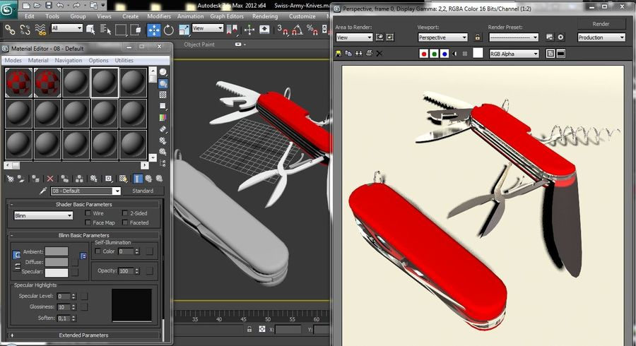 Swiss Army Knives royalty-free 3d model - Preview no. 10