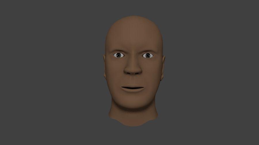 人間の男性の頭 royalty-free 3d model - Preview no. 3