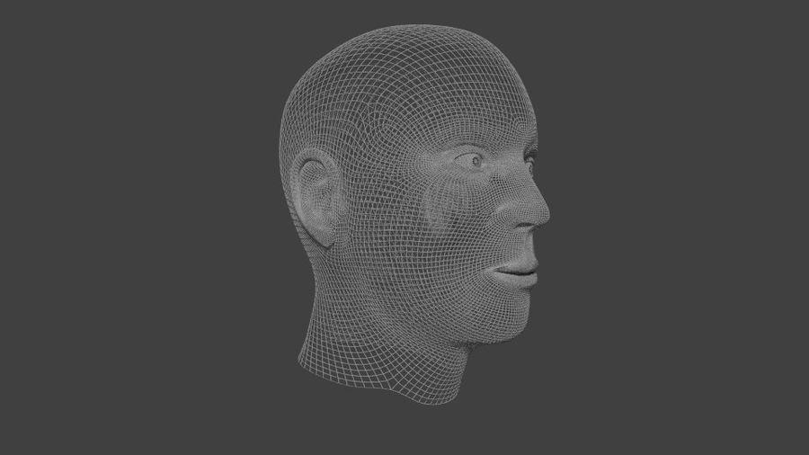 人間の男性の頭 royalty-free 3d model - Preview no. 8