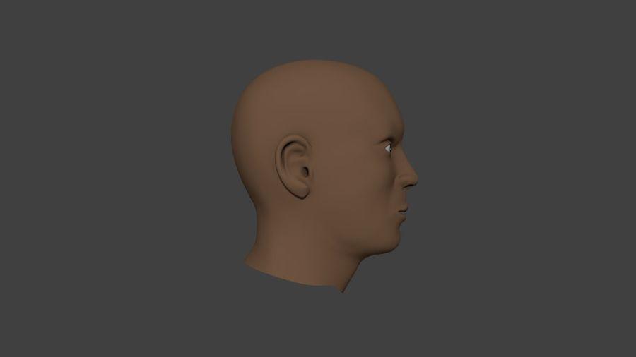 人間の男性の頭 royalty-free 3d model - Preview no. 5