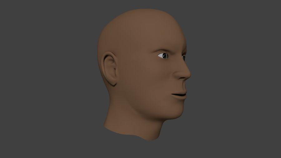 人間の男性の頭 royalty-free 3d model - Preview no. 1