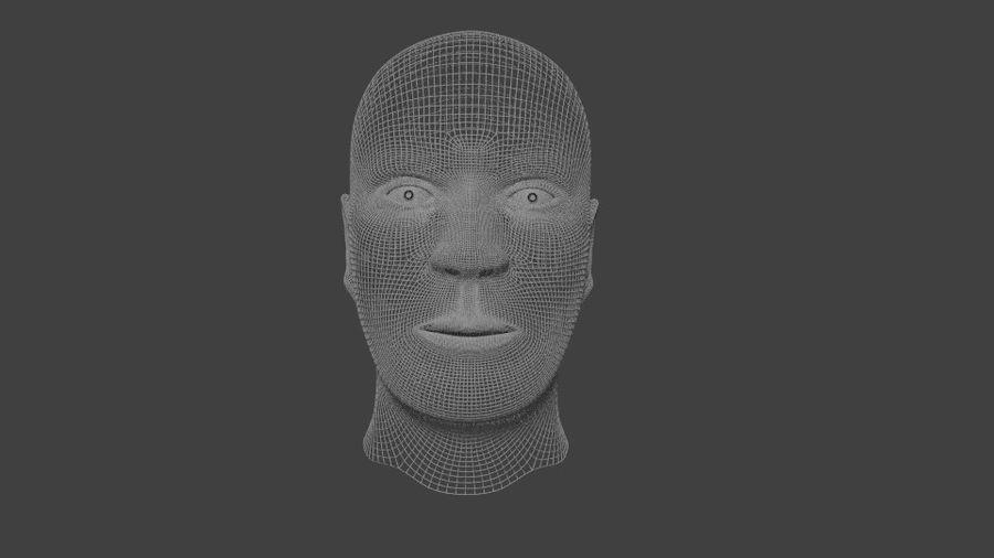 人間の男性の頭 royalty-free 3d model - Preview no. 4
