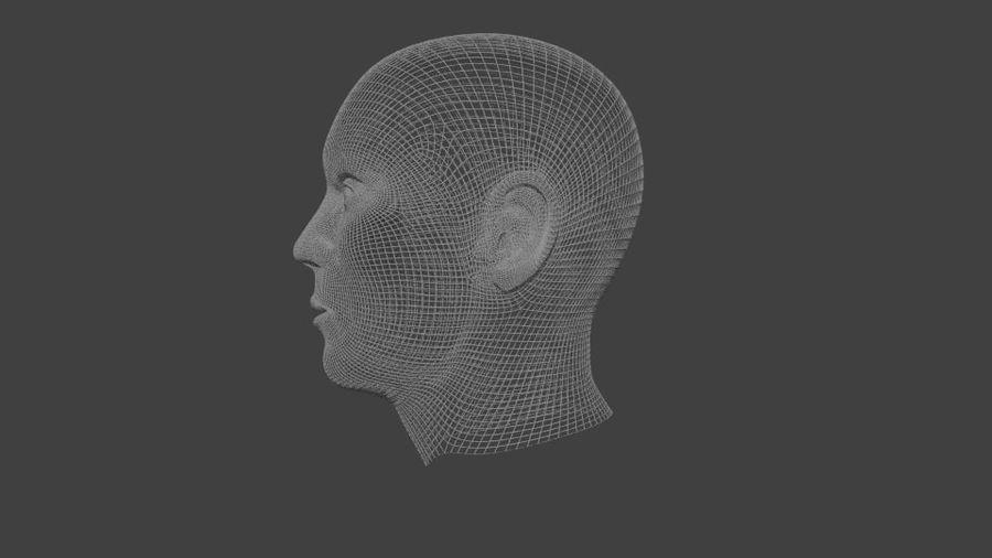人間の男性の頭 royalty-free 3d model - Preview no. 6