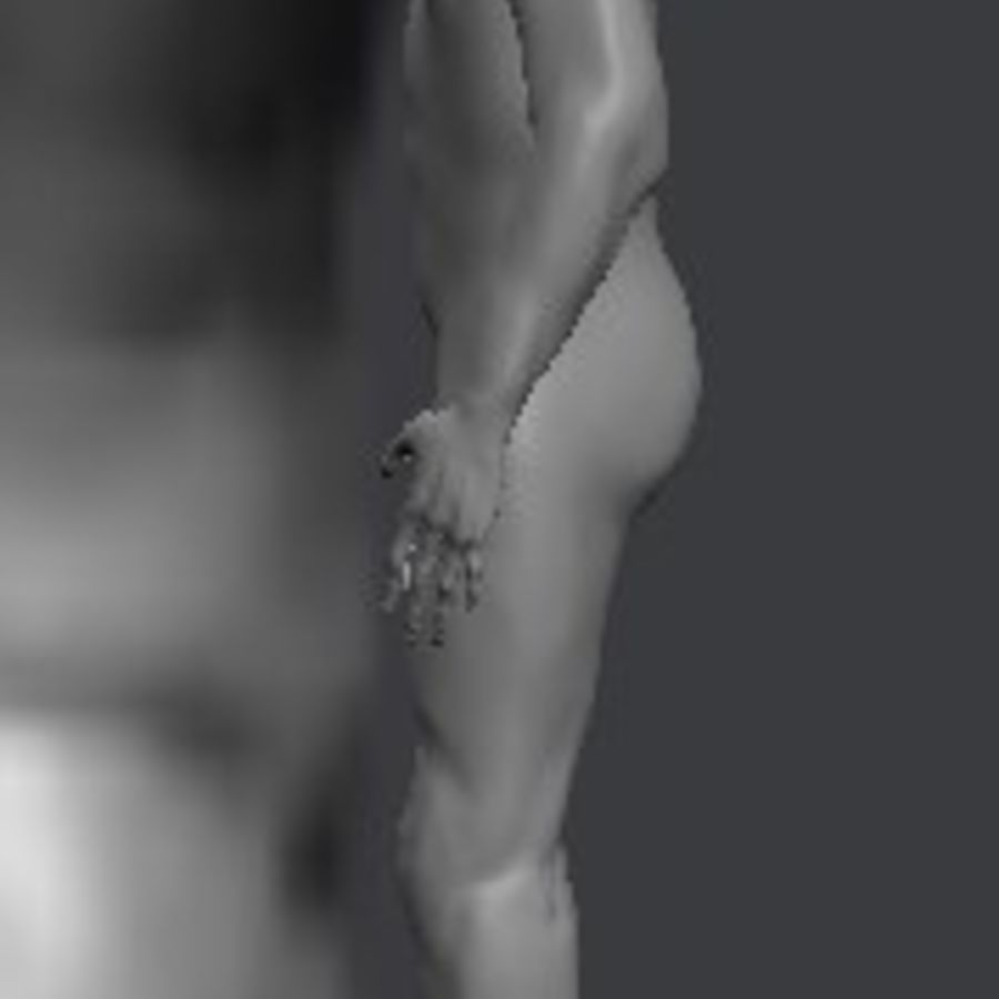 Całe męskie ciało royalty-free 3d model - Preview no. 2