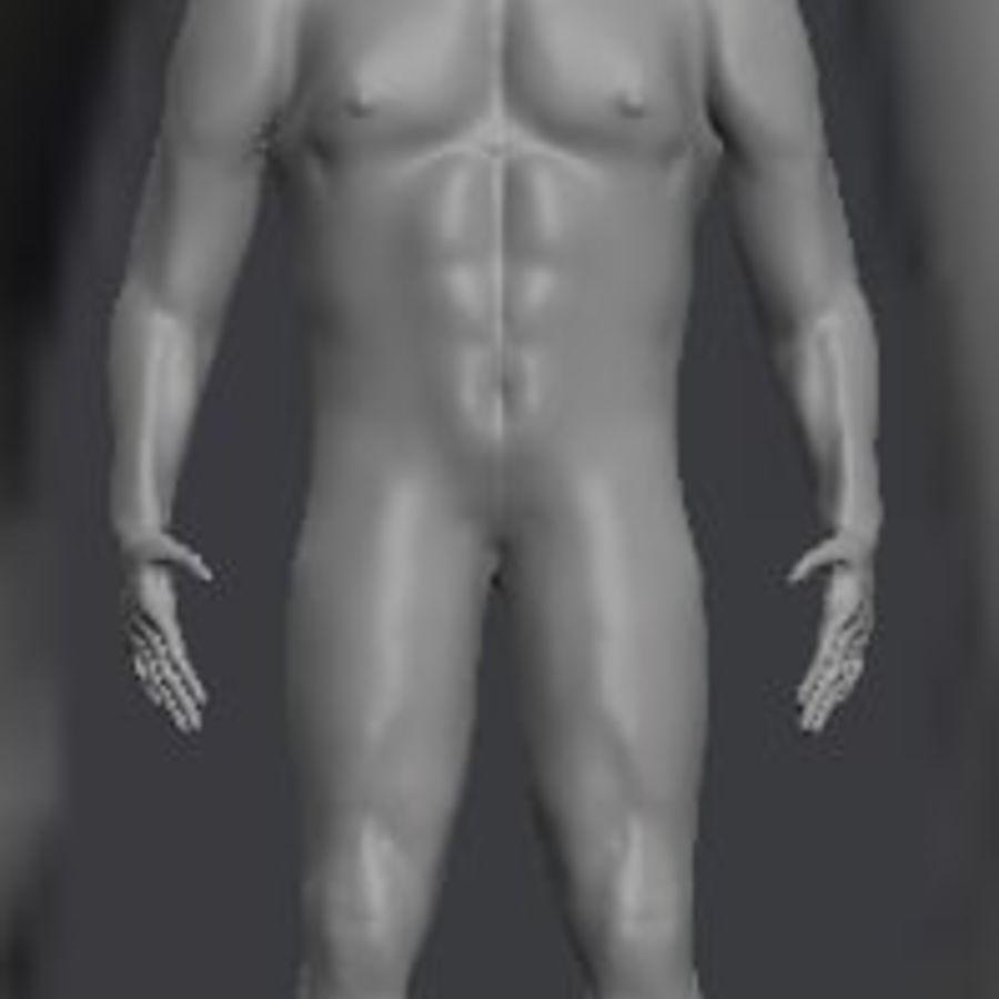 Całe męskie ciało royalty-free 3d model - Preview no. 1