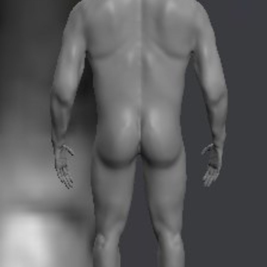 Całe męskie ciało royalty-free 3d model - Preview no. 3
