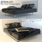 Dünnes Bett von Bonaldo 3d model