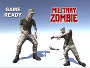 Zumbi militar 3d model