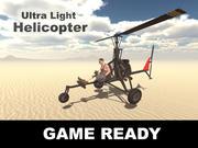 Helicóptero ultra leve 3d model