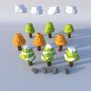 Låg poly miljöuppsättning 3d model