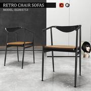 Chair Retro Sofas 3d model