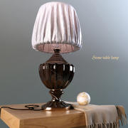Table lamp made of stone 3d model