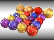Christmas tree decorations 3d model