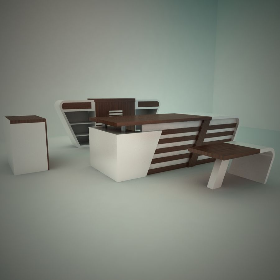 office furniture royalty-free 3d model - Preview no. 2