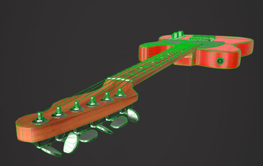 Fender Telecaster VR-Game Ready royalty-free 3d model - Preview no. 9