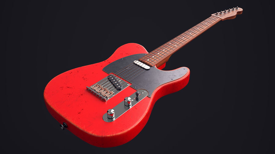 Fender Telecaster VR-Game Ready royalty-free 3d model - Preview no. 1