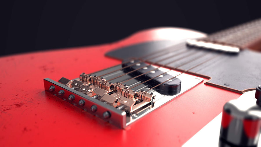 Fender Telecaster VR-Game Ready royalty-free 3d model - Preview no. 3