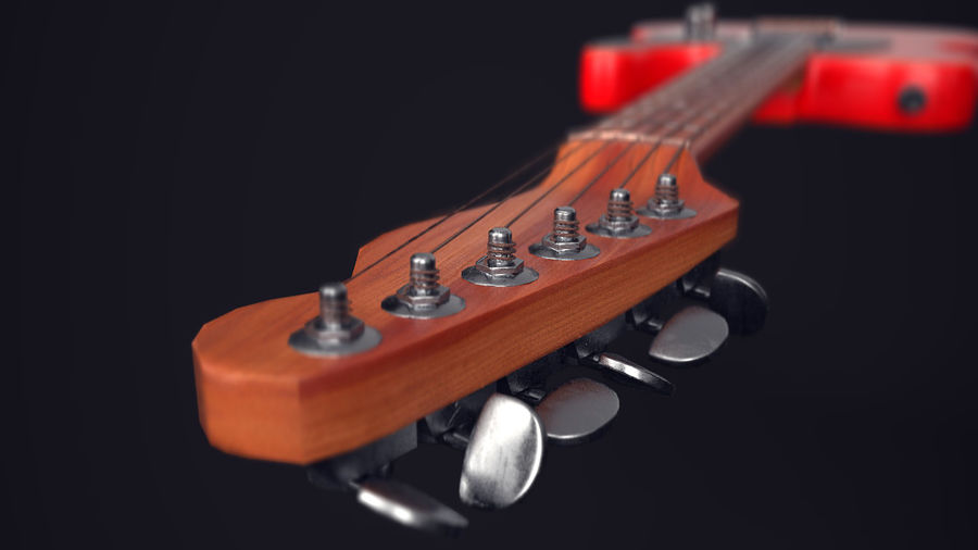 Fender Telecaster VR-Game Ready royalty-free 3d model - Preview no. 4