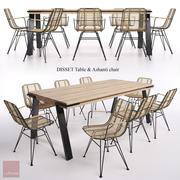 DISSET Bord & Ashanti-stol 3d model