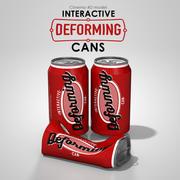 Interactive Deforming Cans 3d model