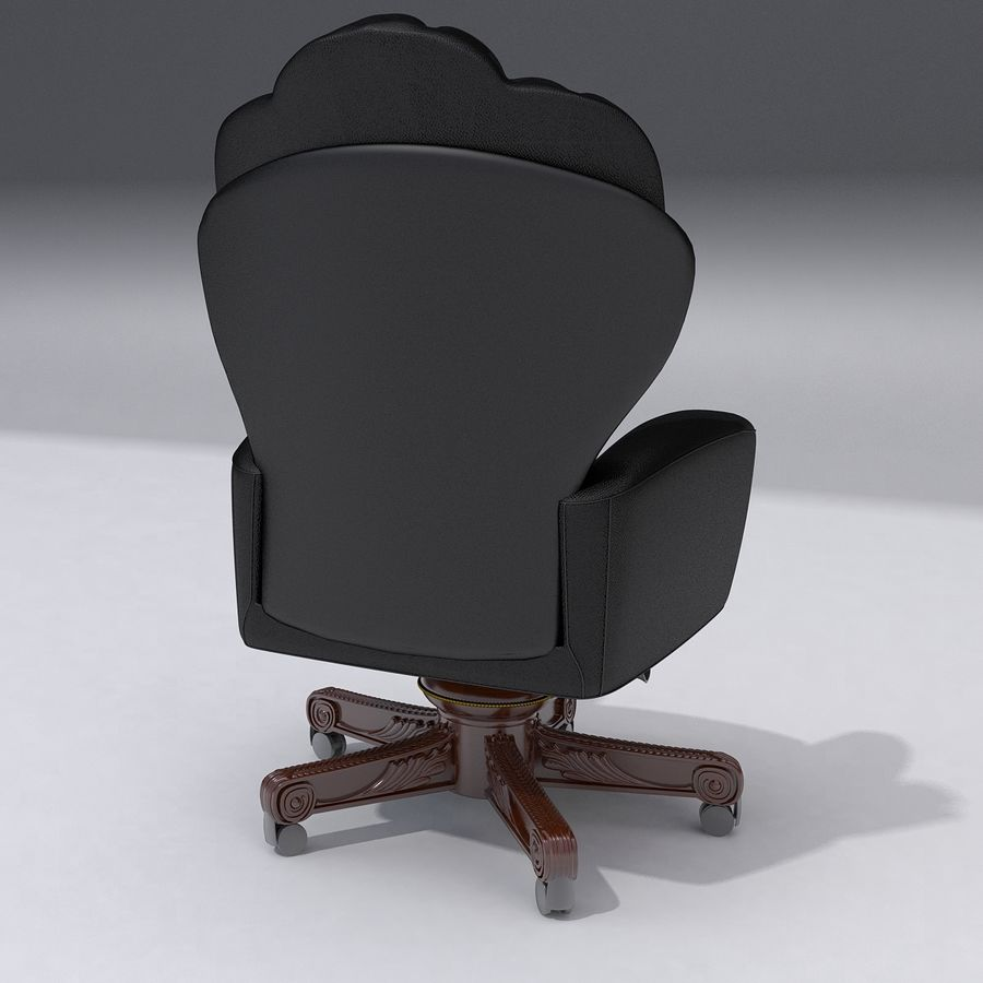 Boss Chair royalty-free 3d model - Preview no. 3
