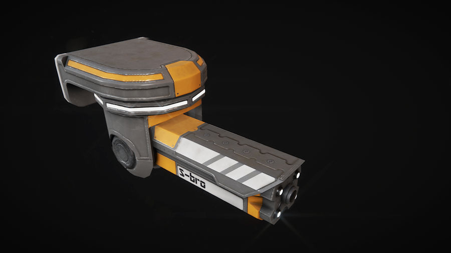 Surveillance camera S-bro royalty-free 3d model - Preview no. 2