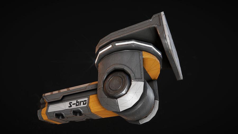 Surveillance camera S-bro royalty-free 3d model - Preview no. 4
