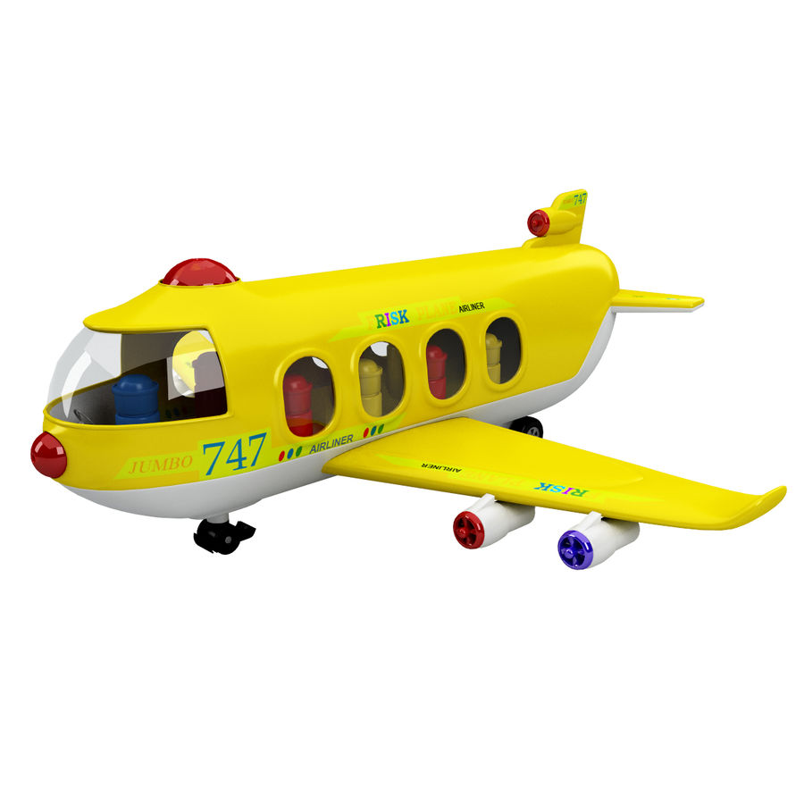 Toy Shiping Plane royalty-free 3d model - Preview no. 1