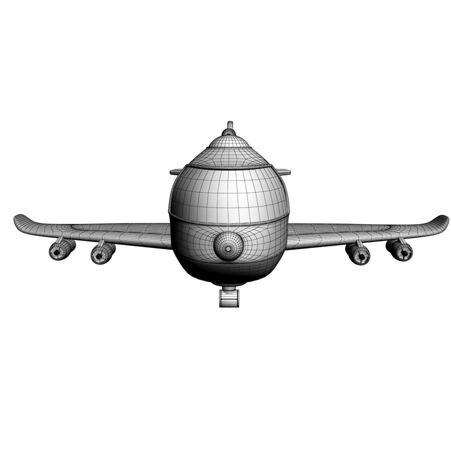Toy Shiping Plane royalty-free 3d model - Preview no. 9