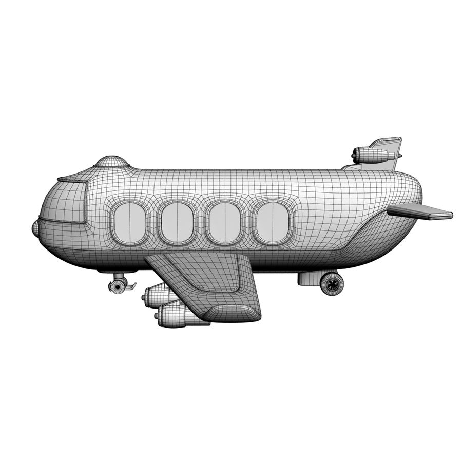 Toy Shiping Plane royalty-free 3d model - Preview no. 7