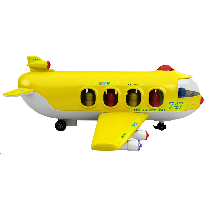 Toy Shiping Plane royalty-free 3d model - Preview no. 5