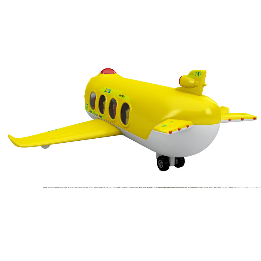 Toy Shiping Plane royalty-free 3d model - Preview no. 4