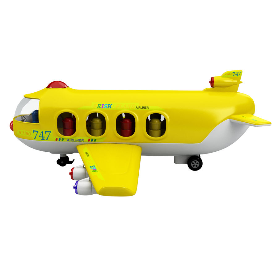 Toy Shiping Plane royalty-free 3d model - Preview no. 3