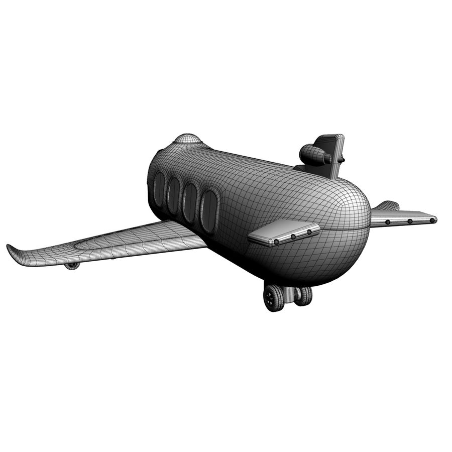 Toy Shiping Plane royalty-free 3d model - Preview no. 8
