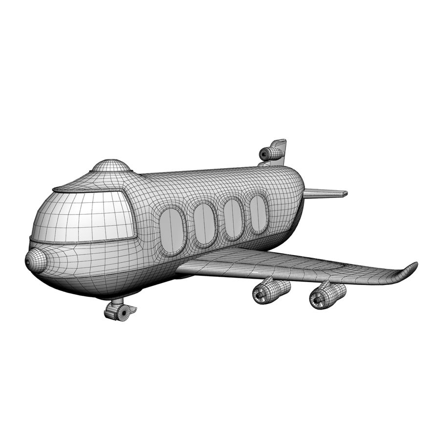 Toy Shiping Plane royalty-free 3d model - Preview no. 6