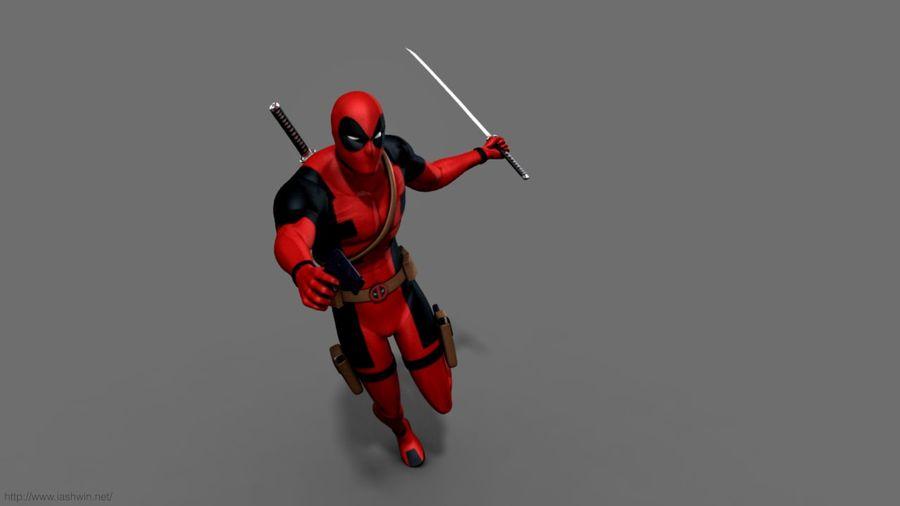 Deadpool Rig 3d Model 25 Ma Free3d